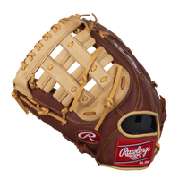 Rawlings Gamer EBGFM18DBC First Base Mitt - Brown / Tan