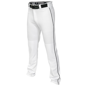 Easton Mako 2 Piped Baseball Pants - Men's - White/Black