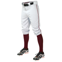 Easton Pro + Knicker Piped Baseball Pants - Men's - White / Maroon