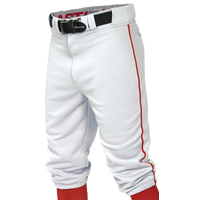 Easton Pro + Knicker Piped Baseball Pants - Men's - White / Red
