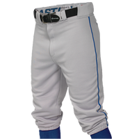Easton Pro + Knicker Piped Baseball Pants - Men's - Grey / Blue