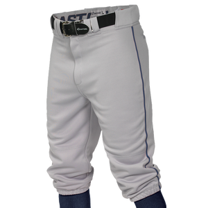 Easton Pro + Knicker Piped Baseball Pants - Men's - Grey/Navy