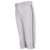 Easton Pro + Knicker Piped Baseball Pants - Boys' Grade School - Grey / Green