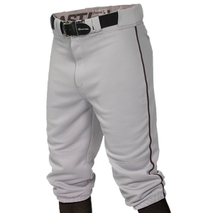 Easton Pro + Knicker Piped Baseball Pants - Boys' Grade School - Grey/Black