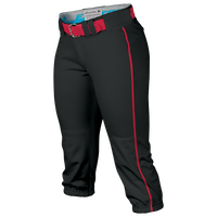 Easton Prowess Piped Softball Pants - Women's - Black / Red