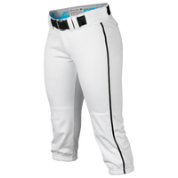 Easton Prowess Piped Softball Pants - Women's - White / Black