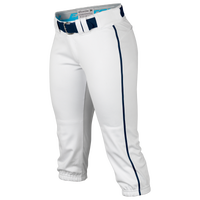 Easton Prowess Piped Softball Pants - Women's - White / Navy