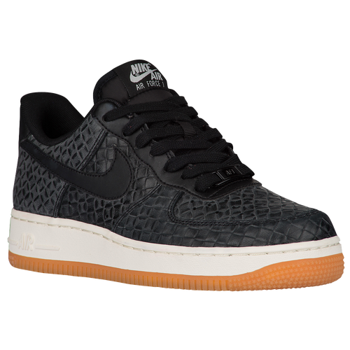 Nike Air Force 1 '07 Premium - Women's - Casual - Shoes - Black/Black/Sail/Gum Med Brown | Glaze Basket