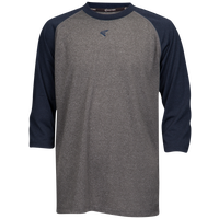 Easton 3/4 Sleeve Raglan Crew Neck T-Shirt - Grade School - Grey / Navy