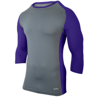 Eastbay Baseball Compression Top - Boys' Grade School - Grey / Purple