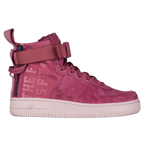 65dcd42ff Nike SF Air Force 1 Mid - Women's - Casual - Shoes - Vintage Wine/Vintage  Wine/Particle Rose