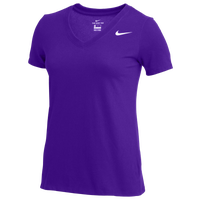Nike Team V-Neck S/S T-Shirt - Women's - Purple