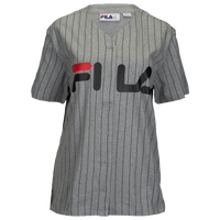 ec108044c182 Fila Lacey Baseball T-Shirt - Women's - Grey / Black