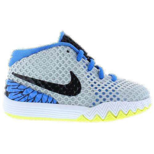 Nike Kyrie I - Boys' Toddler - Nike - Basketball - White/Black/Lt Vint  Yellow/Lt Photo Blue