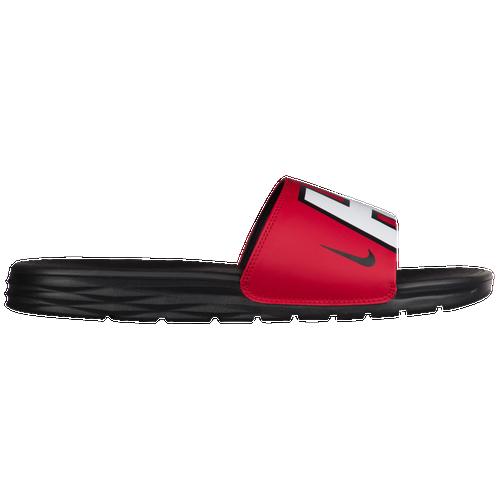d50b97148eb7 Nike Benassi Solarsoft NBA Slide - Men s - Casual - Shoes - Miami ...