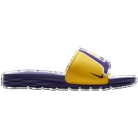 a59ef89cc20a Nike Benassi Solarsoft NBA Slide - Men s - Los Angeles Lakers - Gold    Purple
