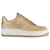 low priced e6624 e0be7 Nike Air Force 1 Upstep - Women s - Gold   White