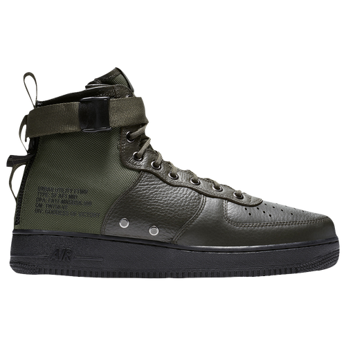 Nike SF Air Force 1 Mid '17 - Men's Casual - Sequoia/Sequoia/Black 17753300