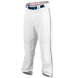 Rawlings Ace Relaxed Fit Piped Pants - Men's - White/Navy