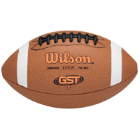 Wilson GST K2 Peewee Composite Football - Boys' Grade School - Brown / White