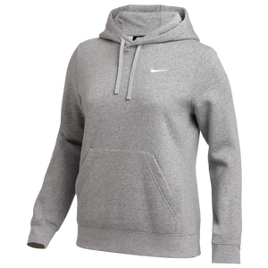 Nike Team Club Fleece Hoodie - Women's - Dark Grey Heather/White