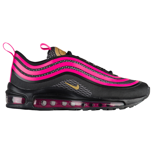 Nike Air Max 97 Ultra - Girls' Grade School - Running - Shoes - Black/Met  Gold/Pink Prime/Dark Grey