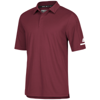 adidas Team Iconic Coaches Polo - Men's - Maroon / White