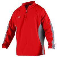 Rawlings BreakR Quarter-Zip Jacket - Men's - Red / Grey