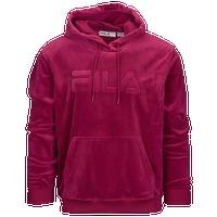 148c1a1a7dd8 Fila Asher Velour Hoodie - Men s - Pink   Pink
