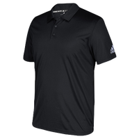 adidas Grind Polo - Boys' Grade School - All Black / Black