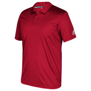 adidas Grind Polo - Boys' Grade School - Power Red/White