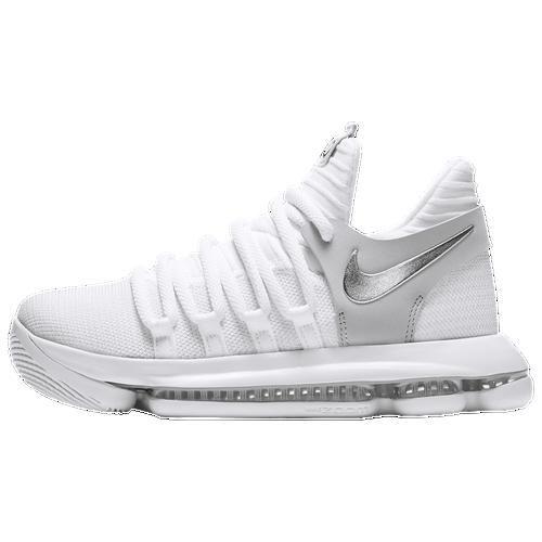 Nike KD X - Boys\u0027 Grade School - Kevin Durant - White / Silver