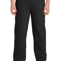 Gildan Team Heavy Blend Open Bottom Sweatpants - Youth - Black