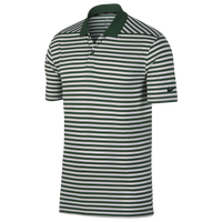 Nike Dri-Fit Victory Stripe Golf Polo - Men's - Green / White