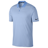 Nike Dri-Fit Victory Stripe Golf Polo - Men's - Light Blue / White