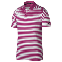 Nike Dri-Fit Victory Stripe Golf Polo - Men's - Pink / White