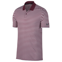 Nike Dri-Fit Victory Stripe Golf Polo - Men's - Maroon / White