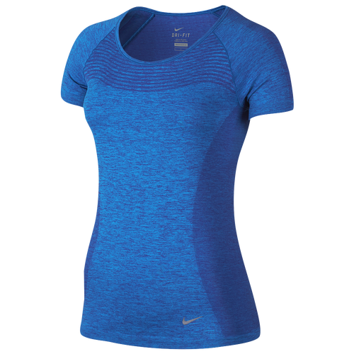 Nike dri fit knit short sleeve t shirt women 39 s running for Nike dri fit t shirt ladies