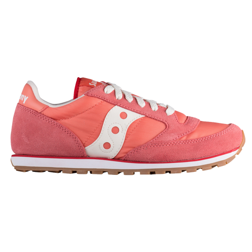 Saucony Jazz Low Pro - Women's Casual - Coral/White 1866230