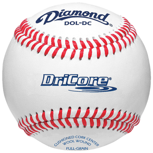 Diamond Dri-Core Practice Baseball - White/Red