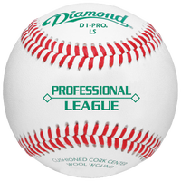 Diamond D1 Pro Low Seam NCAA Baseball - White / Red