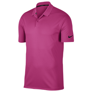 Nike Dri-Fit Victory Solid Golf Polo - Men's - Vivid Pink/Black