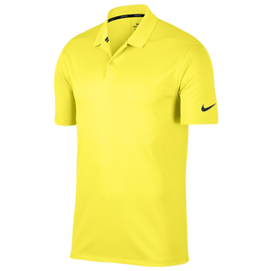 Nike Dri-Fit Victory Solid Golf Polo - Men's - Yellow/Black