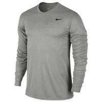 Nike Legend 2.0 Long Sleeve T-Shirt - Men's - Grey / Grey