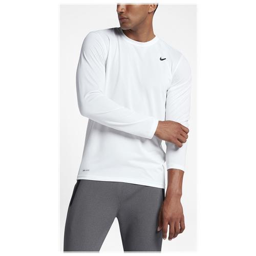 nike legend 20 long sleeve tshirt menu0027s all white white