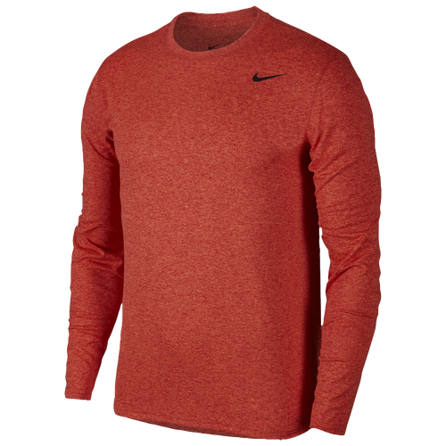 Nike Legend 2.0 Long Sleeve T-Shirt - Men's Training - Gym Red/Anthracite Heather/Matte Silver 18837689