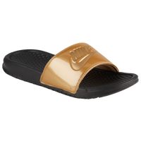 Nike Benassi JDI Slide - Women's - Black / Gold