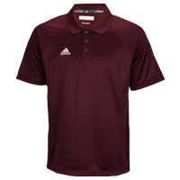 adidas Climalite Team Select Polo - Men's - Maroon / Maroon