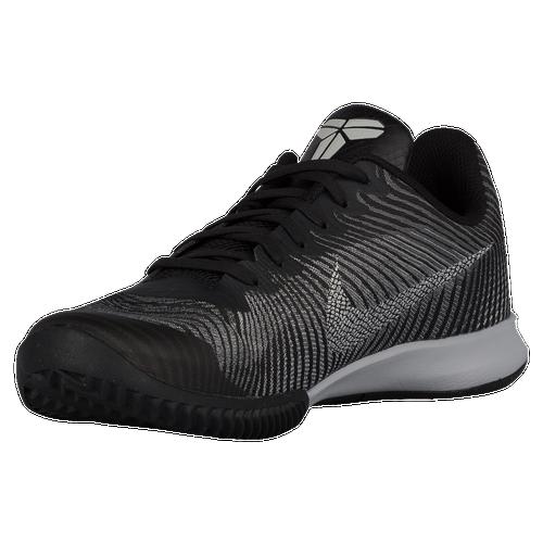 nike kobe mentality 2 mens basketball shoes bryant kobe black white cool grey