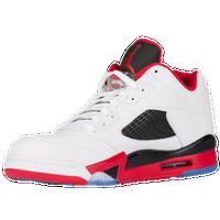 82aede1572d3 Jordan Retro 5 Low - Men s - White   Red